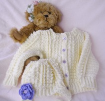 Crocheted Infant Irish Knit Sweater Hat
