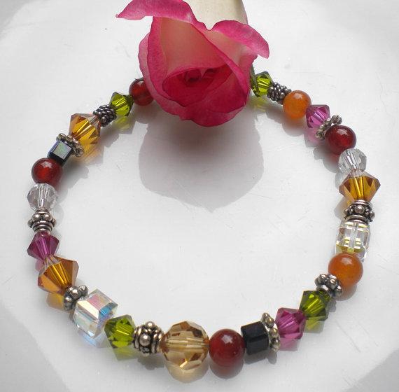 Bracelet.Autumn Swarovski Crystals