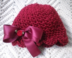 Crochet Baby Girl Cloche
