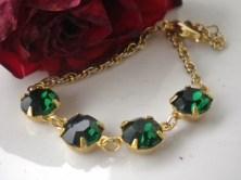 Vintage Christmas Swarovski Bracelet