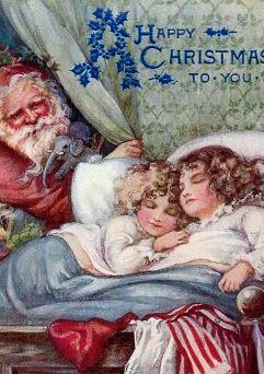 vintage-christmas-santa-girlssleeping-299x480