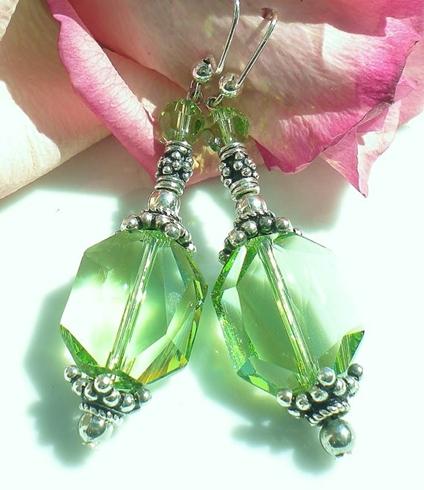 Earrings.Peridot Pendant Earrings 2.19.17