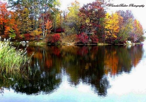 Autumn Scene.Bear Mt Lake.Watermarked.jpg 9.5.17