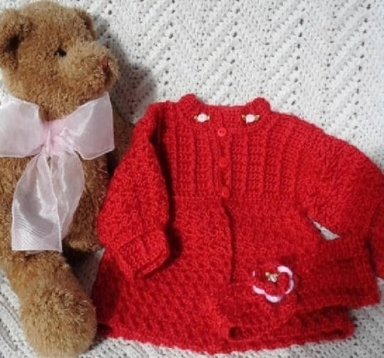 MagdaleneKnits.CrochetedValentinesNewbornSweater.Headband 1.29.18