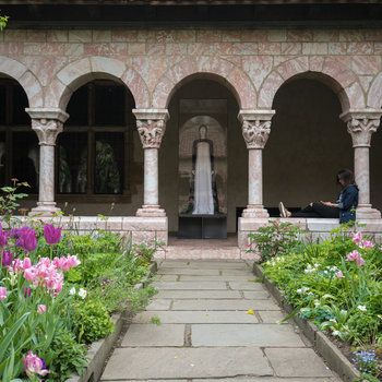 Cloisters.HeavenlyBodies.Monastic Nun Fashion Staning at the Medieval Gardens